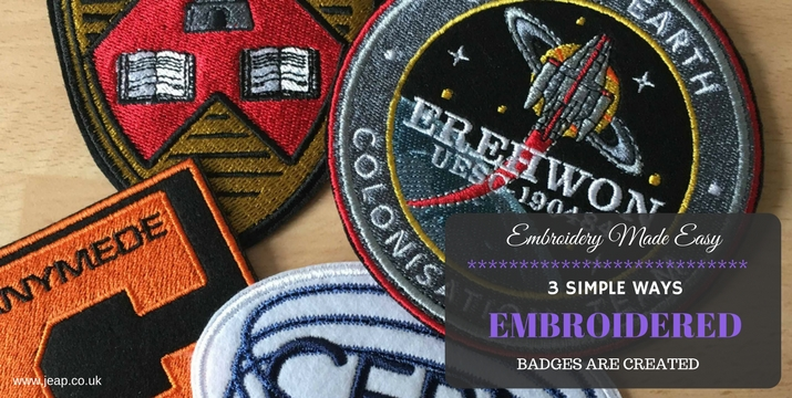 how are embroidered badges are created